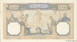1000 Francs CÉRÈS ET MERCURE type modifié FRANCE  1939 F.38.37 SUP à SPL