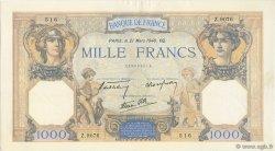 1000 Francs CÉRÈS ET MERCURE type modifié FRANCE  1940 F.38.44 pr.NEUF