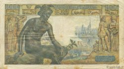 1000 Francs DÉESSE DÉMÉTER FRANCE  1943 F.40.39 pr.TTB