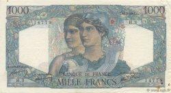 1000 Francs MINERVE ET HERCULE FRANCE  1945 F.41.01 TTB