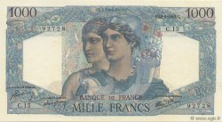 1000 Francs MINERVE ET HERCULE FRANCE  1945 F.41.02 NEUF