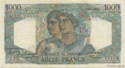 1000 Francs MINERVE ET HERCULE FRANCE  1950 F.41.32 TTB+