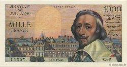 1000 Francs RICHELIEU FRANCE  1954 F.42.07 pr.NEUF