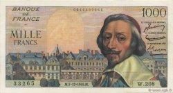 1000 Francs RICHELIEU FRANCE  1955 F.42.17