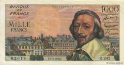 1000 Francs RICHELIEU FRANCE  1956 F.42.19 SUP