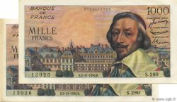 1000 Francs RICHELIEU FRANCE  1956 F.42.23 SUP+