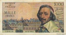 1000 Francs RICHELIEU FRANCE  1956 F.42.24 TTB+