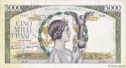 5000 Francs VICTOIRE modifié FRANCE  1938 F.45.01 TTB