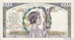 5000 Francs VICTOIRE Impression à plat FRANCE  1939 F.46.02 pr.SPL
