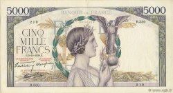 5000 Francs VICTOIRE Impression à plat FRANCE  1939 F.46.13 TTB à SUP