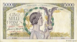 5000 Francs VICTOIRE Impression à plat FRANCE  1942 F.46.43 TTB+