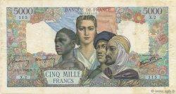 5000 Francs EMPIRE FRANÇAIS FRANCE  1942 F.47.01 TB