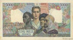 5000 Francs EMPIRE FRANÇAIS FRANCE  1942 F.47.01 TTB