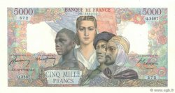 5000 Francs EMPIRE FRANÇAIS FRANCE  1947 F.47.60 SPL