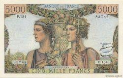5000 Francs TERRE ET MER FRANCE  1956 F.48.12 SPL