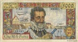 5000 Francs HENRI IV FRANCE  1957 F.49.01 TTB
