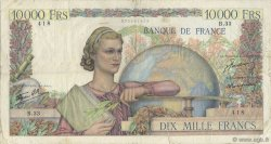 10000 Francs GÉNIE FRANÇAIS FRANCE  1946 F.50.02 TB