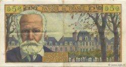 5 Nouveaux Francs VICTOR HUGO FRANCE  1959 F.56.01 TTB