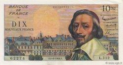 10 Nouveaux Francs RICHELIEU FRANCE  1960 F.57.09 SUP à SPL