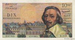 10 Nouveaux Francs RICHELIEU FRANCE  1962 F.57.19 SUP à SPL