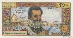 50 Nouveaux Francs HENRI IV FRANCE  1961 F.58.06 pr.NEUF