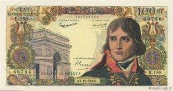 100 Nouveaux Francs BONAPARTE FRANCE  1962 F.59.17 SUP à SPL