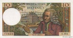 10 Francs VOLTAIRE FRANCE  1967 F.62.29 SUP à SPL