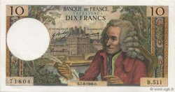 10 Francs VOLTAIRE FRANCE  1969 F.62.39 pr.NEUF