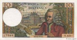 10 Francs VOLTAIRE FRANCE  1970 F.62.47 SUP à SPL