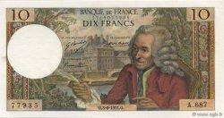 10 Francs VOLTAIRE FRANCE  1971 F.62.50 pr.NEUF