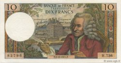 10 Francs VOLTAIRE FRANCE  1971 F.62.53 SUP+