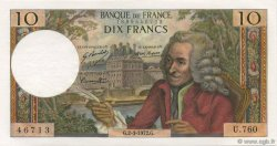 10 Francs VOLTAIRE FRANCE  1972 F.62.55 SPL