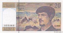20 Francs DEBUSSY à fil de sécurité FRANCE  1992 F.66bis.03 NEUF