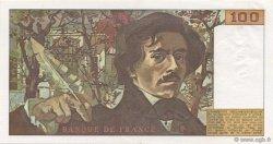 100 Francs DELACROIX modifié FRANCE  1978 F.69.01g SPL