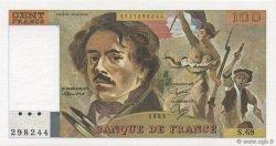 100 Francs DELACROIX modifié FRANCE  1983 F.69.07 NEUF