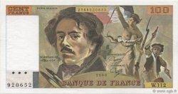 100 Francs DELACROIX modifié FRANCE  1986 F.69.10 pr.SPL