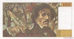 100 Francs DELACROIX modifié FRANCE  1987 F.69.11 SPL+