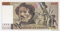 100 Francs DELACROIX imprimé en continu FRANCE  1990 F.69bis.01b4 pr.NEUF