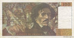 100 Francs DELACROIX imprimé en continu FRANCE  1990 F.69bis.01b8 TTB
