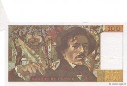 100 Francs DELACROIX imprimé en continu FRANCE  1991 F.69bis.03b2 SPL