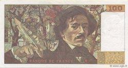 100 Francs DELACROIX imprimé en continu FRANCE  1991 F.69bis.03c2 TTB à SUP