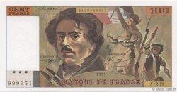 100 Francs DELACROIX imprimé en continu FRANCE  1993 F.69bis.05a NEUF
