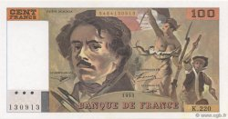 100 Francs DELACROIX imprimé en continu FRANCE  1993 F.69bis.05b NEUF