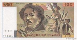 100 Francs DELACROIX  UNIFACE FRANCE  1995 F.69U.07 NEUF