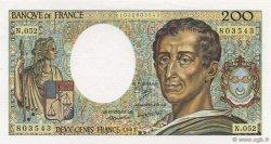 200 Francs MONTESQUIEU FRANCE  1987 F.70.07 pr.NEUF