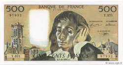 500 Francs PASCAL FRANCE  1991 F.71.48