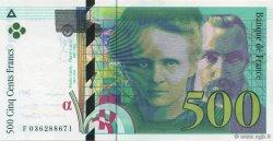 500 Francs PIERRE ET MARIE CURIE FRANCE  1996 F.76.03