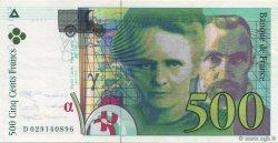 500 Francs PIERRE ET MARIE CURIE sans STRAP FRANCE  1994 F.76qua.01 SUP à SPL