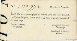 10 Livres Tournois Typographié FRANCE  1720 Laf.89 TTB