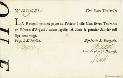 100 Livres Tournois Typographié FRANCE  1720 Laf.90 TTB+